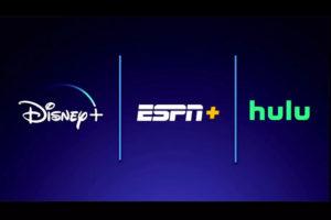 Pacote Disney Plus com ESPN Plus e Hulu