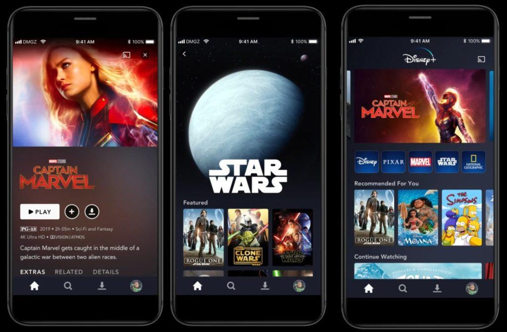 interface-disney-plus-no-celular-1024x671 Assinatura básica do Disney Plus: 7 perfis e 4 telas simultâneas em 4K
