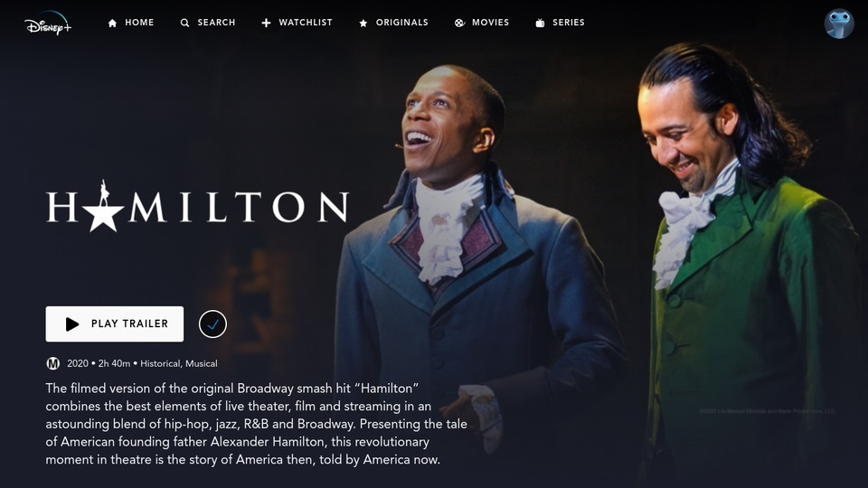 Disney-Plus-Hamilton-Page Criador de Hamilton: mudamos os palavrões pra entrar no Disney Plus