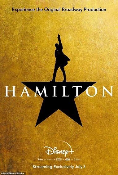 Hamilton-Disney-Plus-Poster Sensação da Broadway, musical Hamilton chega ao Disney Plus!
