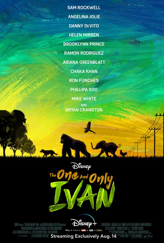 Disney-Plus-Brasil-The-One-and-Only-Ivan- Primeiro trailer de 'The One and Only Ivan' com Bryan Cranston de 'Breaking Bad'