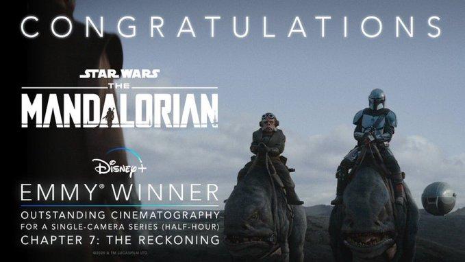 The-Mandalorian-Emmy-Melhor-Cinematografia-para-Serie-de-Camera-Unica-Meia-Hora The Mandalorian leva 5 prêmios Emmy e pode ganhar mais
