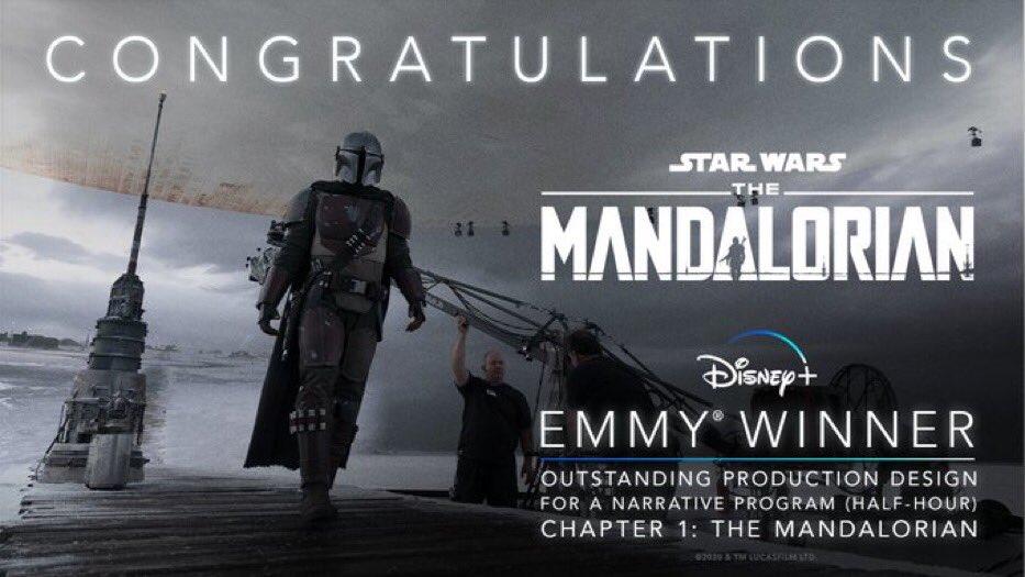 The-Mandalorian-Emmy-Melhor-Design-de-Producao-para-um-Programa-Narrativo-Meia-Hora The Mandalorian leva 5 prêmios Emmy e pode ganhar mais