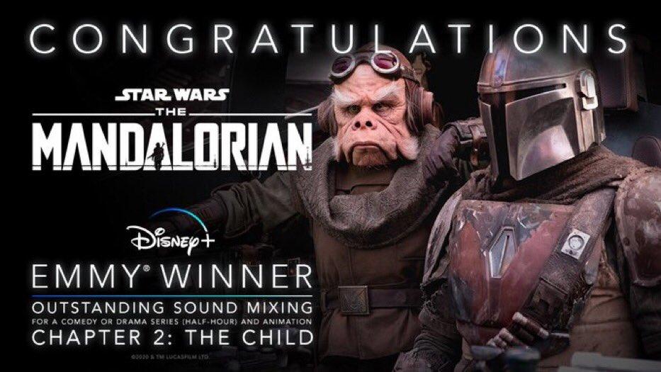 The-Mandalorian-Emmy-Melhor-Mixagem-de-Som-em-uma-serie-de-drama-ou-comedia The Mandalorian leva 5 prêmios Emmy e pode ganhar mais