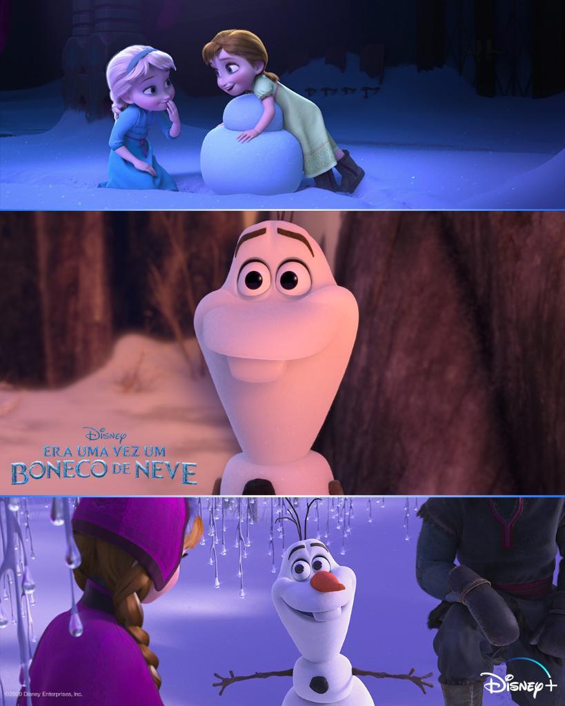 Era-uma-vez-um-boneco-de-neve-novas-imagens Era uma vez um Boneco de Neve: Disney+ confirma filme do Olaf no Brasil