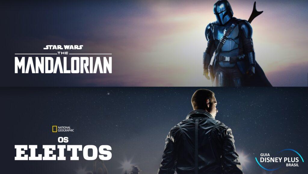 """Posteres-The-Mandalorian-e-Os-Eleitos-1024x581 Já viu os novos pôsteres de """"The Mandalorian"""" e """"Os Eleitos""""?"""