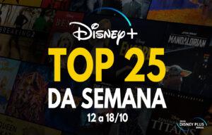 TOP 25 Disney Plus trending semanal 18-10