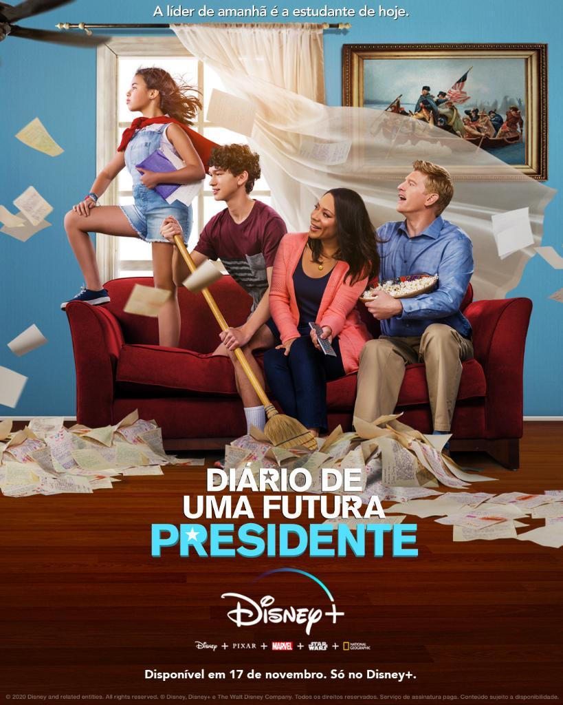 Diario-de-Uma-Futura-Presidente-Poster Confira os Lançamentos de Hoje no Disney+