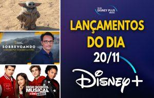 Lançamentos Disney Plus dia 20-11-20