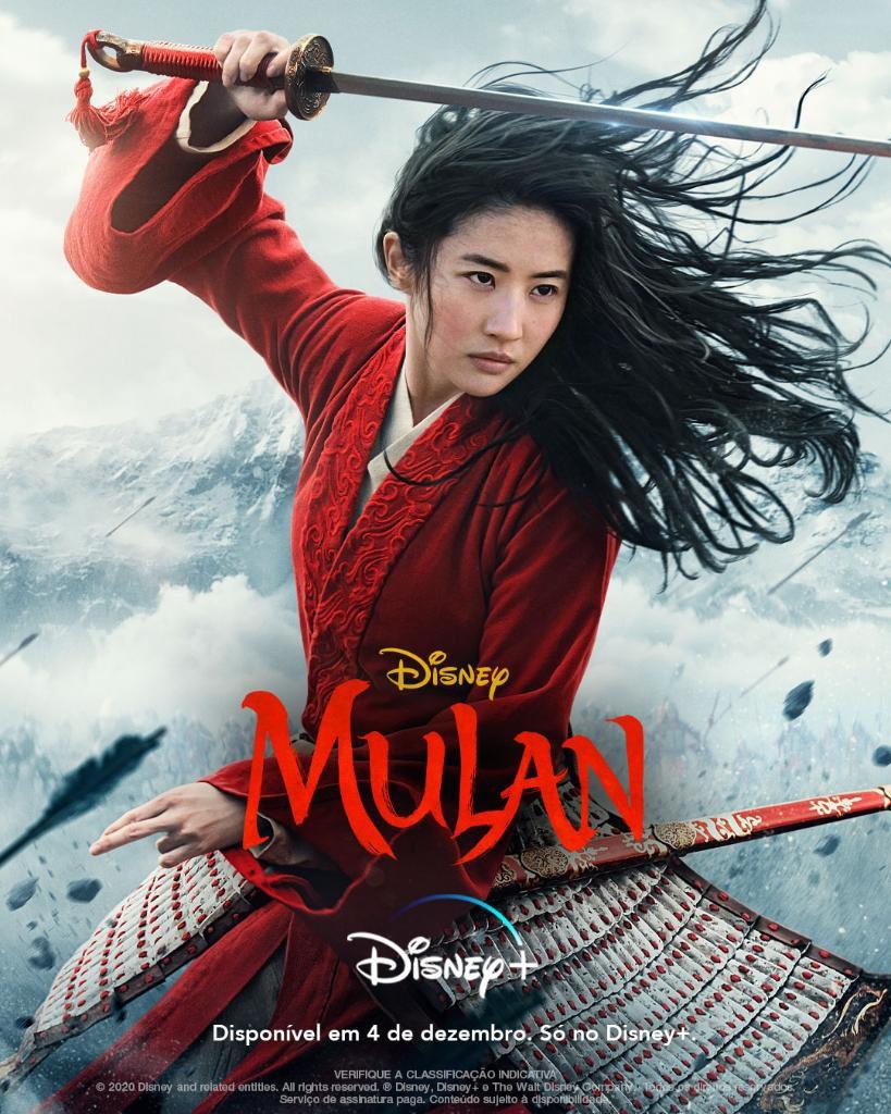 Poster-Mulan-Brasil Mulan: Disney+ Confirma o Filme em 04/12 sem Custo Adicional no Brasil