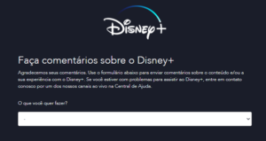 Feedback - sugestões - Disney Plus