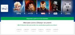 Mercado Livre parceria Disney Plus