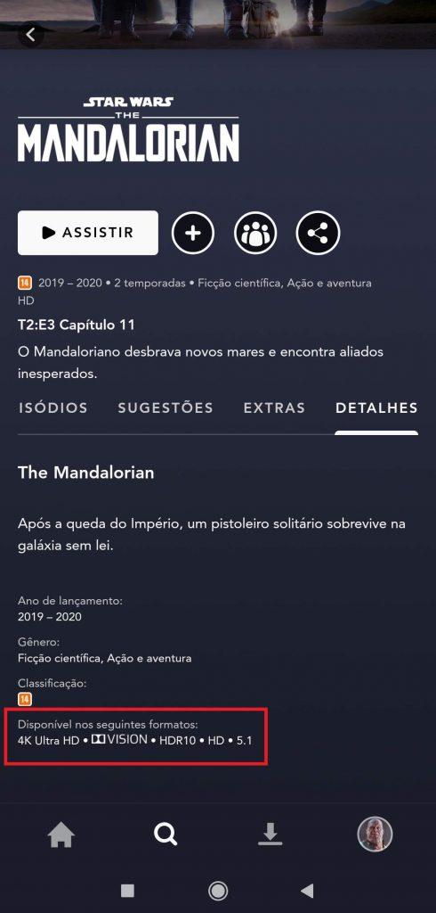 The-Mandalorian-4K-Ultra-HD-HDR-490x1024 Como Assistir Filmes e Séries no Disney+ na Qualidade Máxima 4K Ultra HD