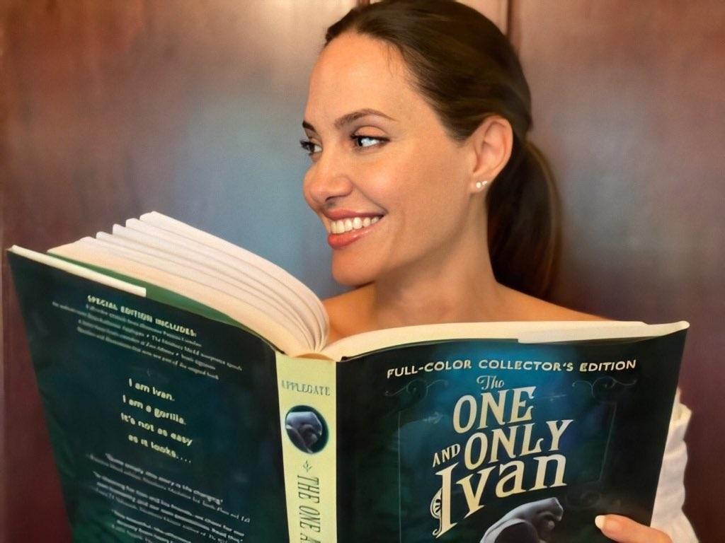 Angelina-Jolie-e-o-Livro-O-Grande-Ivan O Grande Ivan: Saiba Tudo do Filme com Bryan Cranston e Angelina Jolie