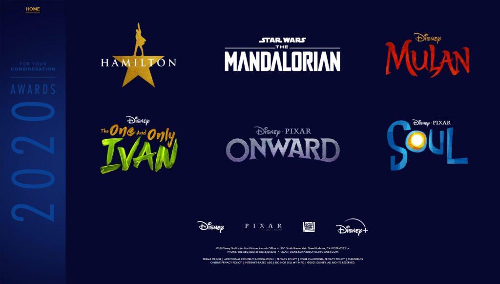 Lista-de-Titulos-For-Your-Consideration-Disney-1024x581 6 Produções da Disney Indicadas para a Temporada de Premiações 2021