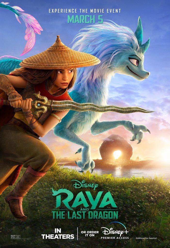 Raya-e-o-Ultimo-Dragao-e-Poster Saiu o Novo Trailer de 'Raya e o Último Dragão', Confira!