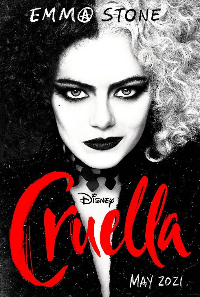 Cruella-Poster-2-691x1024 Trailer de 'Cruella': Emma Stone dá Vida a uma das Vilãs Mais Famosas da Disney