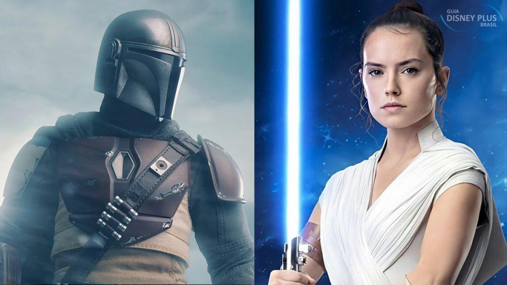 Mando-e-Rey-1024x576 O Mandaloriano Pode se Encontrar com Rey em Futuros Projetos Star Wars