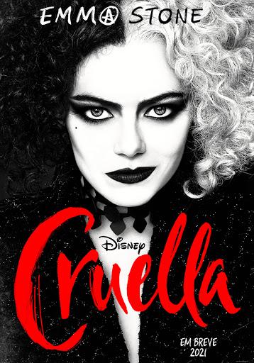 Poster-Cruella Cruella: Trailer com Emma Stone Supera 'Malévola' e 'Aladdin' em Visualizações
