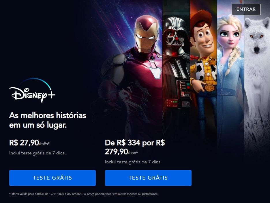 Tela-Teste-Gratuito-Disney-Plus-Antes Disney Plus Deixa de Oferecer o Período Gratuito de Avaliação