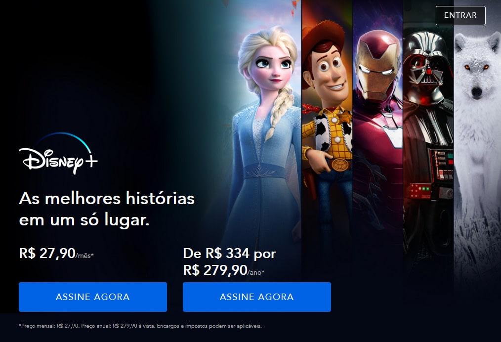 Tela-Teste-Gratuito-Disney-Plus-Depois Disney Plus Deixa de Oferecer o Período Gratuito de Avaliação