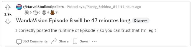 WandaVision-Duracao-do-Episodio-8 Episódio 8 de 'WandaVision' Será o Mais Longo Até Agora