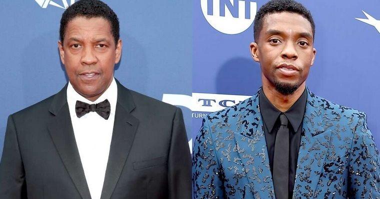 Denzel-Washington-e-Chadwick-Boseman Denzel Washington Pode Ganhar Papel em Pantera Negra 2