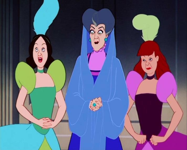 Irmas-Adotivas-da-Cinderela Drizella e Anastasia, Irmãs Malvadas da Cinderela, Terão um Filme só Delas
