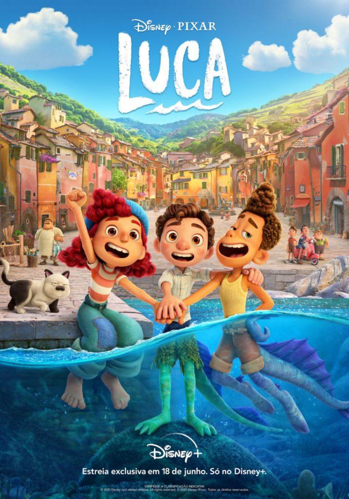 Luca-Poster-28-04-717x1024 Luca: Novo Trailer Mostra Amigos Monstros Aprendendo sobre os Humanos