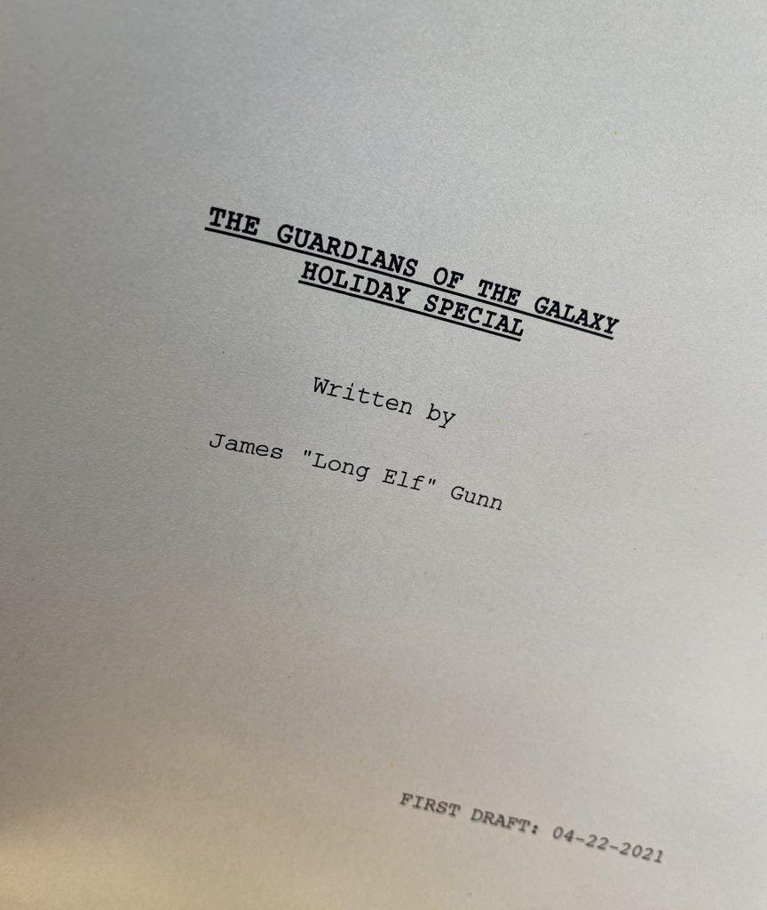 Roteiro-Especial-Guardioes-da-Galaxia-864x1024 James Gunn Anuncia que Roteiro do Especial de Guardiões da Galáxia Está Pronto