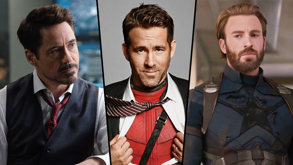 Ryan-Reynolds-Robert-Downey-e-Chris-Evans Ryan Reynolds pede à Marvel cenas com Robert Downey Jr e Chris Evans