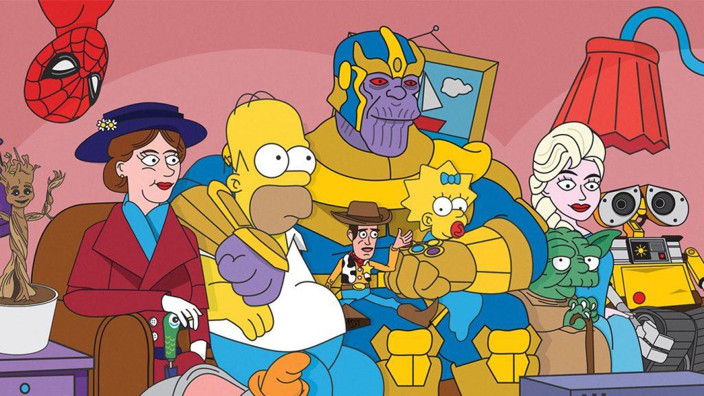 Crossovers-Os-Simpsons-no-Disney-Plus-1024x576 Disney+ terá mais crossovers de Os Simpsons com Star Wars, Pixar e Marvel