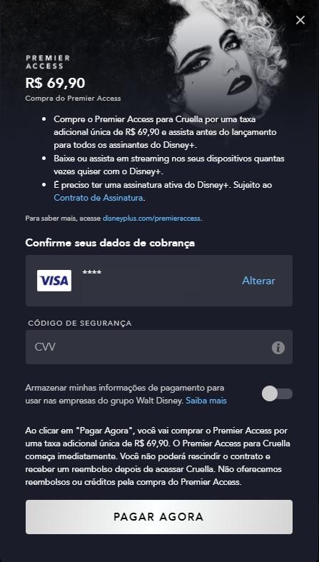 Fora-da-Play-Store Como comprar Cruella pelo Premier Access no Disney+?