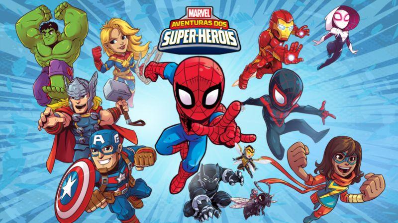 Marvel-Aventuras-dos-Super-Herois-Disney-Plus Animações Clássicas Dominam os Lançamentos de Hoje no Disney+ (21/05)