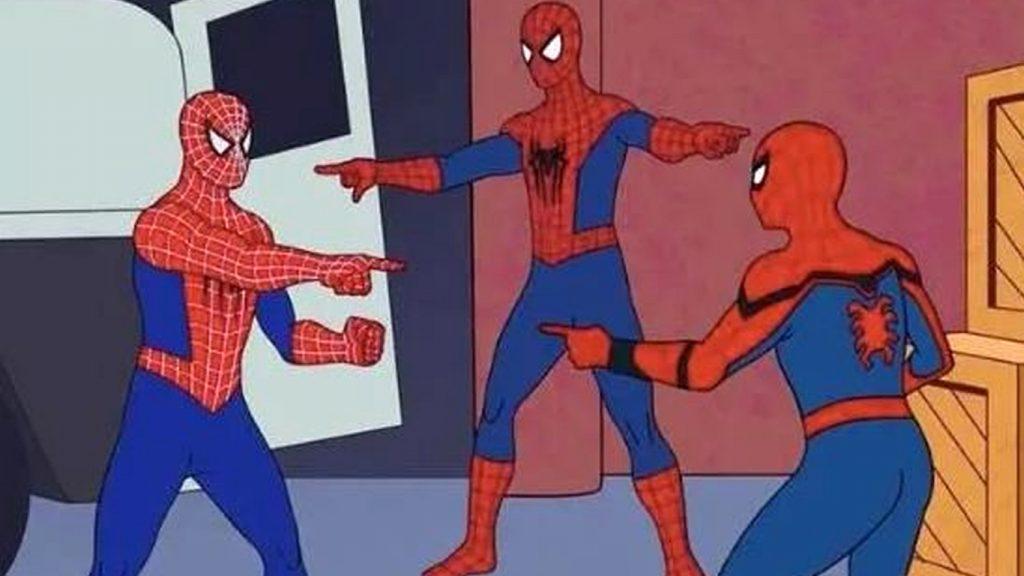 meme Homem-aranha