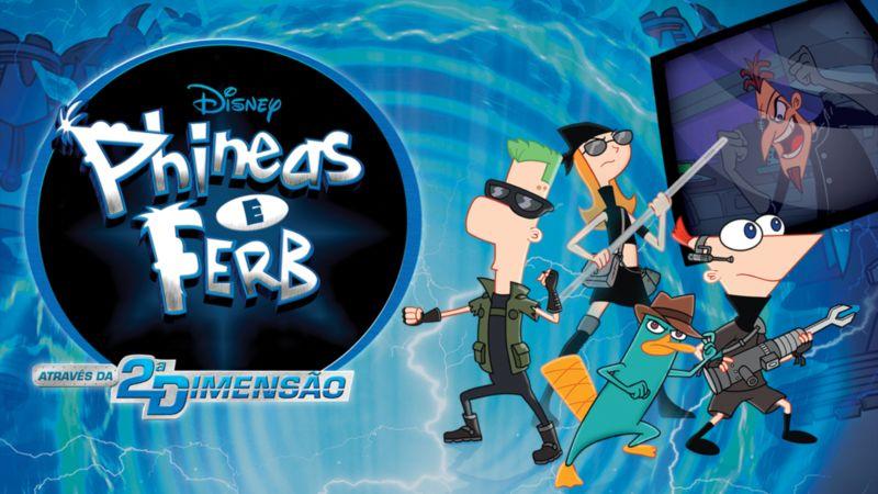 Phineas-e-Ferb-O-Filme-Atraves-da-2a-Dimensao Lançamentos de Hoje no Disney+ Incluem a 2ª Temporada de #HSMTMTS