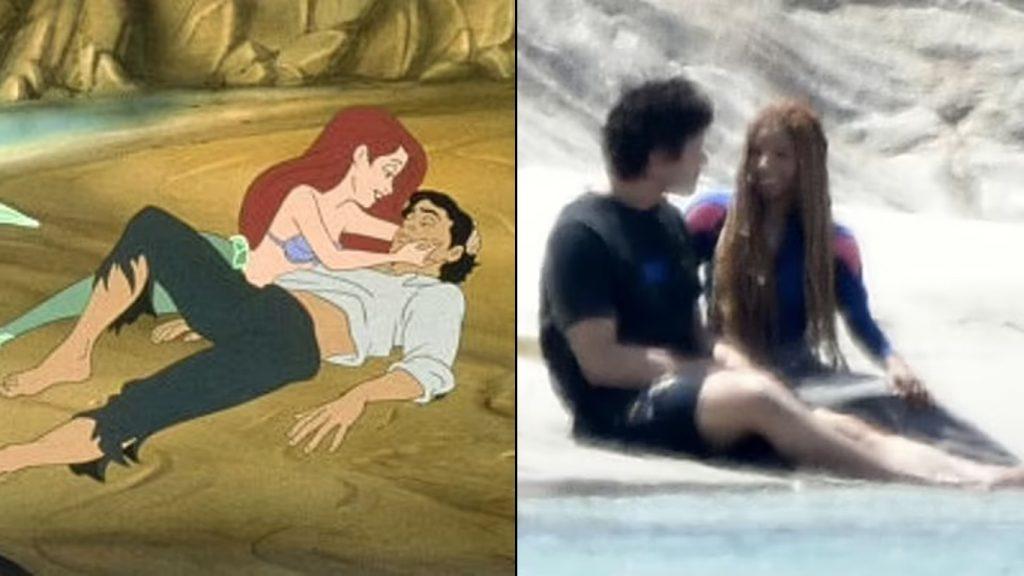 A-Pequena-Sereia-Ariel-e-Eric-1024x576 A Pequena Sereia: Vazam as Primeiras Imagens do set na Itália com Ariel e Príncipe Eric