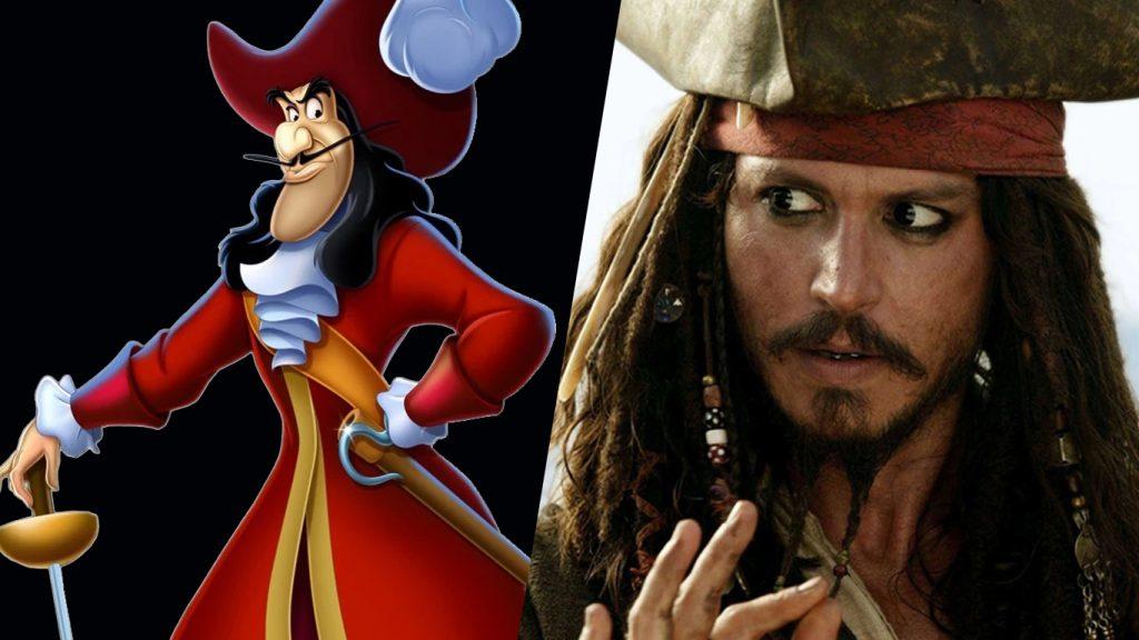 Capitao-Gancho-e-Jack-Sparrow-1024x576 Capitão Gancho, de Peter Pan, pode substituir Jack Sparrow em Piratas do Caribe