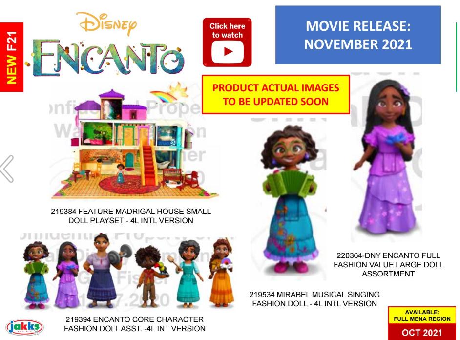 image-7 Encanto: Brinquedo revela primeiras imagens com o visual dos personagens