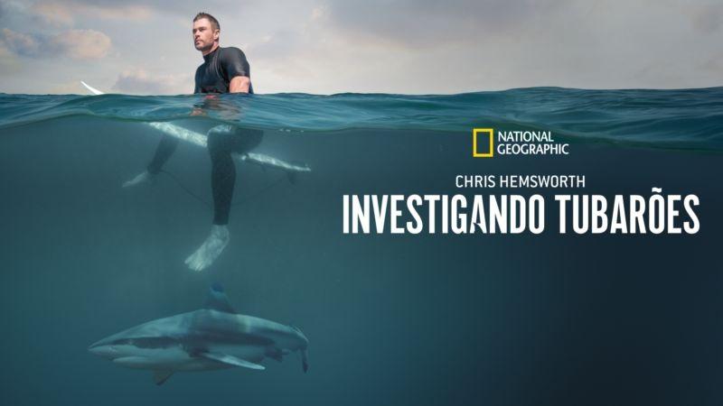 Chris-Hemsworth-Investigando-Tubaroes Lançamentos de Agosto no Disney+ | Lista Completa e Atualizada