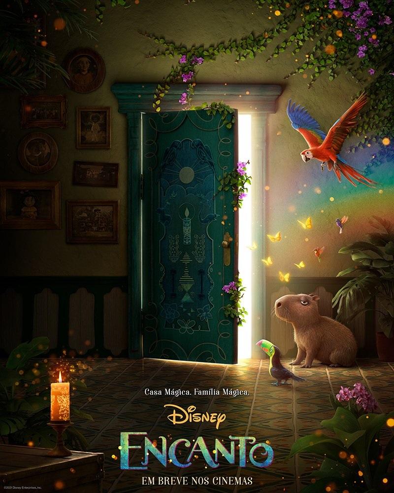 Poster-Encanto Encanto: Disney libera o primeiro pôster repleto de detalhes e fãs esperam pelo trailer para amanhã