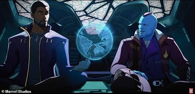Senhor-das-Estrelas-Tchalla-e-Yondu Marvel trará encontro entre Chadwick Boseman e Howard, o Pato