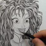 Artista transforma livro de colorir de Frozen em impressionantes ilustrações de terror