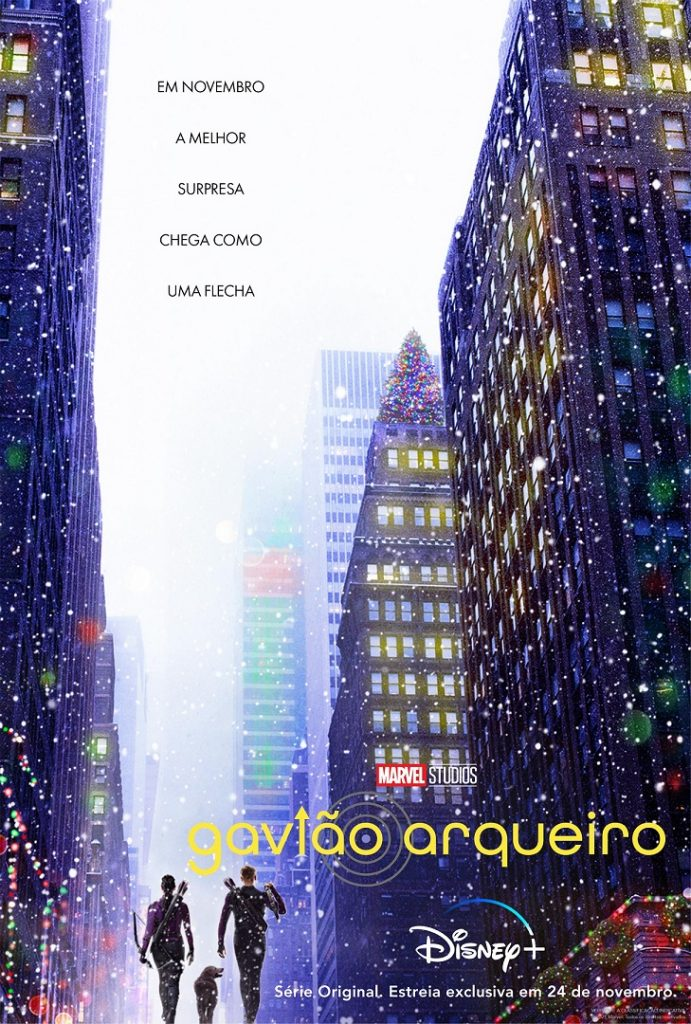 Poster-Gaviao-Arqueiro-691x1024 Saiu o trailer de Gavião Arqueiro, próxima série da Marvel no Disney+