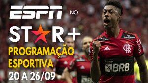 Star Plus ESPN Calendário Esportivo 20 a 26-09