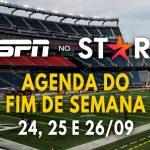 ESPN no Star+   Lista completa dos eventos esportivos ao vivo do fim de semana (24 a 26/09)