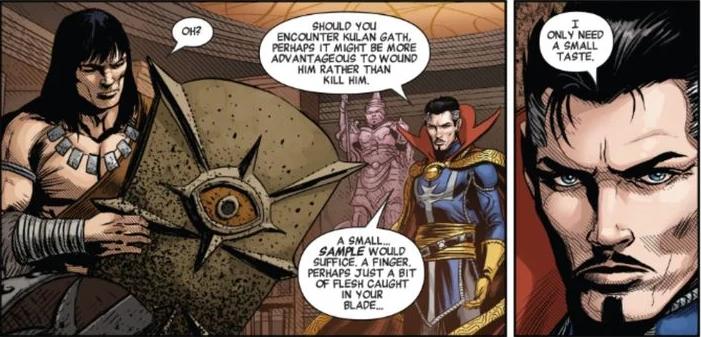 image-93 Nem Tony Stark, nem Peter Parker. O novo amigo do Doutor Estranho é um Bárbaro muito conhecido