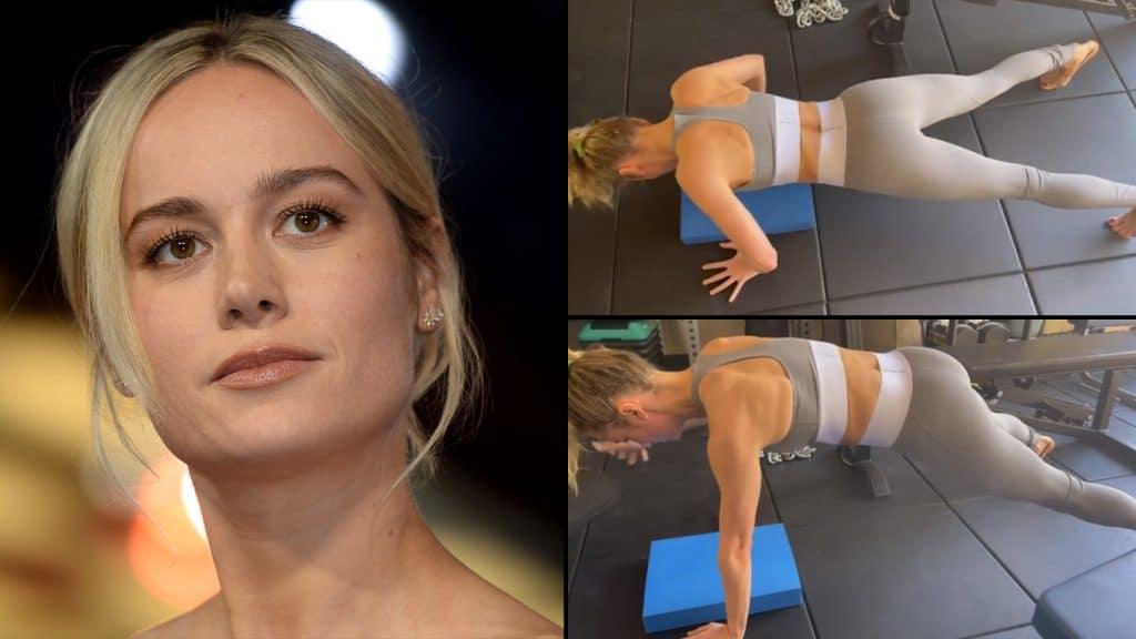 Brie-Larson-Flexoes-1024x576 Em novo vídeo, Brie Larson mostra que está tão forte quanto Carol Danvers