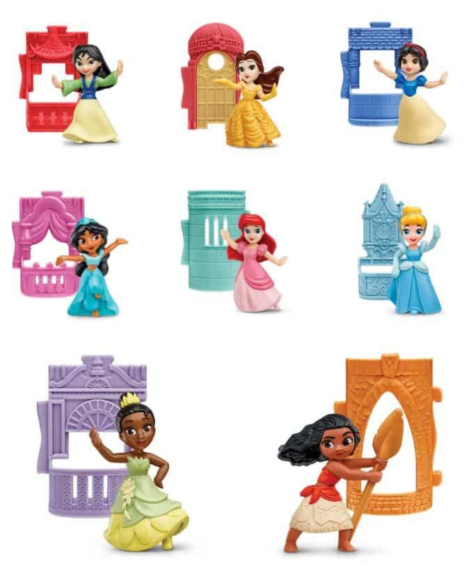 Princesas-McDonalds Novos brinquedos do McDonald's trazem Princesas da Disney e Personagens de Star Wars