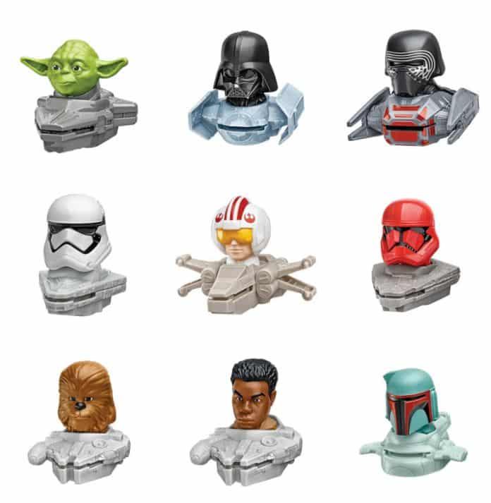 Star-Wars-Mcdonalds Novos brinquedos do McDonald's trazem Princesas da Disney e Personagens de Star Wars